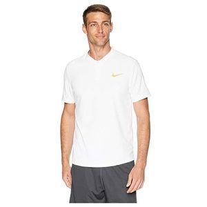 Nike White Tennis Polo Shirt, M
